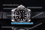 Rolex Deepsea Sea Dweller Ocean Swiss ETA 2836 Automatic Steel Case with Black Dial Black Rubber Strap and Dot Markers - 1:1 Original (NOOB)