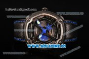 Dietrich OT-4 Miyota 82S7 Automatic PVD Case wtih Four layered Dial and Black Leather Strap - Blue Hands