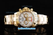 Rolex Daytona II Automatic Movement Full Gold with Stick Markers and White Dial