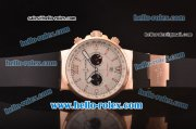 Ulysse Nardin Maxi Marine Chronograph Miyota OS20 Quartz Rose Gold Case with White Dial and Black Rubber Strap