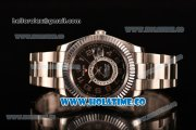 Rolex Sky-Dweller Asia Automatic Steel Case with Black Dial and Arabic Numeral Markers