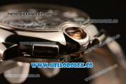 Cartier Ballon Bleu De Chrono Swiss Valjoux 7750 Automatic Two Tone Case with Black Dial and Two Tone Bracelet - (H)