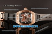 Richard Mille RM 018 Tourbillon Hommage a Boucheron Rose Gold Case 9015 Auto with Skeleton Dial and Black Rubber Strap