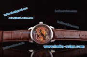 Ulysse Nardin Classico Enamel Champleve Dragon ST22 Automatic Steel Case with Brown Dial and Brown Leather Strap - ETA Coating