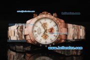 Rolex Daytona II Automatic Movement Brown PVD Case and Strap with White Dial and White Markers