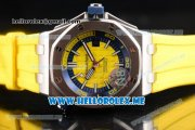 Audemars Piguet Royal Oak Offshore Diver Asia 2813 Automatic Steel Case with Yellow Dial and Stick Markers Yellow Rubber Strap (EF)