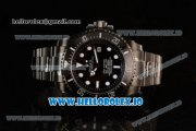 Rolex Sea-Dweller Clone Rolex 3135 Automatic PVD Case Black Dial With Dots Markers PVD Bracelet