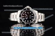 Rolex Sea-Dweller Clone Rolex 3135 Automatic Stainless Steel Case/Bracelet with Black Dial and Dot Markers (BP)