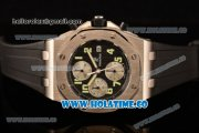 Audemars Piguet Royal Oak Offshore Chronograph Swiss Valjoux 7750 Automatic Steel Case with Black Dial and Green Arabic Numeral Markers (GF)