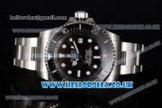 Rolex Sea-Dweller Deepsea Clone Rolex 3135 Automatic Stainless Steel Case/Bracelet with Black Dial and Dot Markers - 1:1 Original