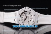 Audemars Piguet Royal Oak Offshore Diver Clone AP Calibre 3120 Automatic Ceramic Case with White Dial Black Second Hand and White Rubber Strap (EF)