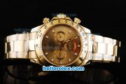 Rolex Daytona II Automatic Movement Full Gold with Stick Markers and Gold Dial