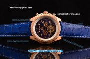Breitling for Bentley RL10 Tourbillion Automatic Rose Gold Case with Blue Dial and Blue Leather Strap