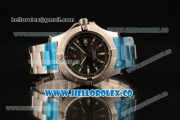 Breitling Colt Swiss ETA 2824 Automatic Steel Case/Bracelet with Black Dial and Stick Markers