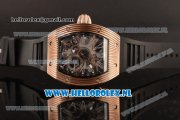Richard Mille RM 018 Tourbillon Hommage a Boucheron Rose Gold Case with 9015 Auto Skeleton Dial and Black Rubber Strap