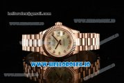 Rolex Datejust Swiss ETA 2671 Automatic Rose Gold Case with Yellow Dial Diamonds Markers and Rose Gold Bracelet (BP)