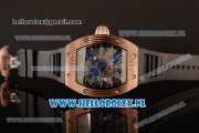 Richard Mille RM 018 Tourbillon Hommage a Boucheron 9015 Auto Rose Gold Case with Skeleton Dial and Black Rubber Strap