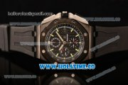 Audemars Piguet Royal Oak Offshore Chrono Clone AP Calibre 3126 Automatic PVD Case with Black Dial and Green Stick Markers (EF)