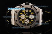 Audemars Piguet Royal Oak Offshore Jalan Bukit Bintang Swiss Valjoux 7750 Automatic Movement Titanium Case with Black Dial and Yellow Numerals-Limited Edition