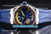Audemars Piguet Royal Oak Offshore Diver Asia 2813 Automatic Steel Case with Blue Dial and Stick Markers Blue Rubber Strap (EF)