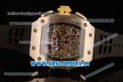 Richard Mille RM11-03 Swiss Valjoux 7750 Automatic Steel Case Skeleton Dial With Arabic Numeral Markers Black Rubber Strap(KV)
