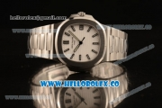Patek Philippe Nautilus Jumbo Miyota 9015 Automatic Full Steel with White DIal and Stick Markers - 1:1 Original