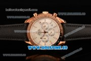 Omega Speedmaster Moonwatch Co-Axial Chronograph Miyota OS20 Quartz Rose Gold Case with White Dial and Stick Markers