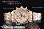 Breitling Chronomat Evolution 36mm Chronograph Miyota OS10 Quartz Two Tone Case/Strap with White Dial