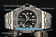 Audemars Piguet Royal Oak Offshore Chronograph Swiss Valjoux 7750 Movement Silver Case with Black Dial and White Numeral Marker-SSband