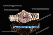 Rolex Datejust Swiss ETA 2671 Automatic Rose Gold Case with Pink Dial Diamonds Markers and Rose Gold Bracelet (BP)
