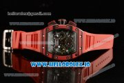 Richard Mille RM 11-03 Swiss Valjoux 7750 Automatic Ceramic Case Black Dial With Arabic Numeral Markers Red Rubber Strap