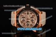 Audemars Piguet Royal Oak Offshore Clone AP Calibre 3126 Automatic Rose Gold with Grey Dial and Arabic Numeral Markers- PVD Bezel (EF)