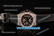Audemars Piguet Royal Oak Offshore Chrono Swiss Valjoux 7750 Automatic Steel Case with Black Dial and Arabic Numeral Markers (EF)