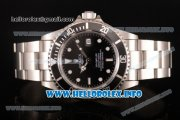 Rolex Sea-Dweller Swisss ETA 2836 Automatic Steel Case/Bracelet with Black Dial and White Dot Markers (BP)