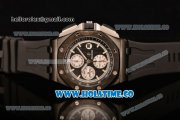 Audemars Piguet Royal Oak Offshore Chrono Clone AP Calibre 3126 Automatic PVD Case with Black Dial and White Stick Markers (EF)