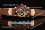 Ulysse Nardin Maxi Marine Diver Chronograph Miyota OS20 Quartz Rose Gold Case with Silver Dial White Markers and Brown Rubber Strap