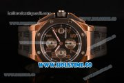 Audemars Piguet Royal Oak Offshore Clone AP Calibre 3126 Automatic Rose Gold with Arabic Numeral Markers and Black Dial - Steel Bezel (EF)