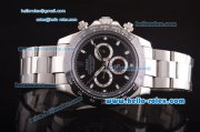 Rolex Daytona II Automatic 7750 Coating Steel Case and Strap with Black Dial