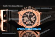 Audemars Piguet Royal Oak Offshore Chronograph Swiss Valjoux 7750 Automatic Rose Gold Case with Arabic Numeral Markers and Black Dial (EF)