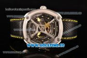 Dietrich OT-3 Miyota 82S7 Automatic Steel Case wtih Four layered Dial and Black Leather Strap - Yellow Hands