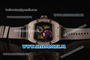 Richard Mille RM19-02 Tourbillon Fleur 9015 Auto Steel Case with Black Dial and Black Rubber Strap