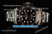 Rolex Sea-Dweller Clone Rolex 3135 Automatic PVD Case Black Dial With Dots Markers PVD Bracelet (BP)