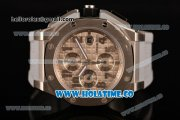 Audemars Piguet Royal Oak Offshore Clone AP Calibre 3126 Automatic Steel Case with Grey Dial and Arabic Numeral Markers (EF)