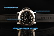Panerai Luminor Marina Pam 104 Swiss Valjoux 7750 Automatic Movement Steel Case with Black Dial and Black Rubber Strap-1:1 Original