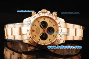 Rolex Daytona II Automatic Movement Gold Case and Strap with Rose Gold Dial and White Markers