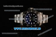 Rolex DEEPSEA Sea-Dweller Clone Rolex 3135 Automatic PVD Case Blue Dial With Dots Markers PVD Bracelet (BP)