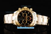 Rolex Daytona II Automatic Movement Full Gold with Stick Markers and Black Dial