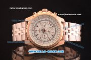 Breitling Bentley Motors T Automatic Rose Gold Case with White Dial and Rose Gold Strap