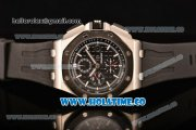 Audemars Piguet Royal Oak Offshore Chrono Clone AP Calibre 3126 Automatic Steel Case with Black Dial and White Stick Markers (EF)