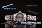 Rolex Lady Datejust Automatic Movement Steel Case/Strap with Silver Dial and Roman Markers